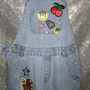 Curtain Call Costume Overall jeans with patches